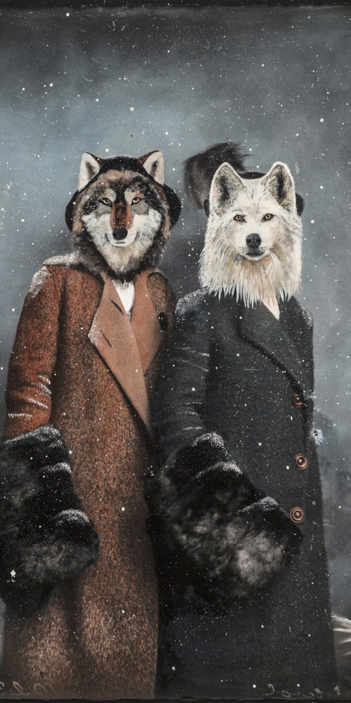 Winter Wolves | 60 x 40