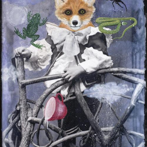 "Fox Divining | 48 x 36"""